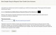 Letter For Increase Credit Limit Bank Of America Allowing Some Cardholders To Request A