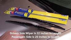 Michelin Guardian Wiper Blades Size Chart Replacing Wipers With Michelin Rainforce All Weather