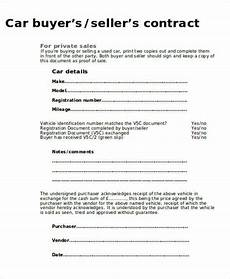 Contract For Selling A Car Free 11 Sample Car Sales Contracts In Ms Word Pdf Pages
