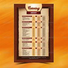 Catering Menu Card Catering Menu Template Flyer By Owdesigns Graphicriver