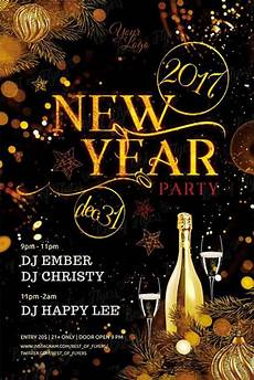 New Years Template New Year Party Free Flyer Template Download Free New