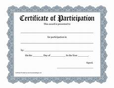 Free Certificates Of Participation Certificate Of Participation Template Playbestonlinegames
