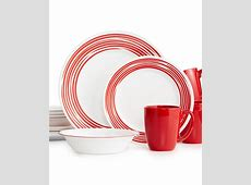 Corelle Brushed Red 16 Pc. Dinnerware Set, Service for 4
