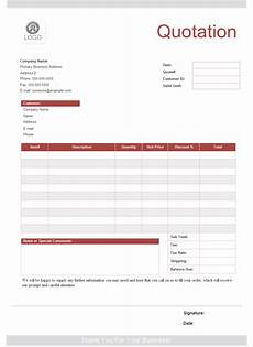 Free Quote Forms Quotation Form Free Quotation Form Templates