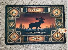 Moose R Us.Com Moose Silhouette Silk Screen Bathroom Kitchen Mat