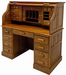 Best Desks 53 3 4 Quot W Deluxe Oak Roll Top Desk In Stock
