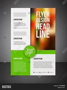 Front Page Design Template Business Brochure Offer Flyer Vector Amp Photo Bigstock