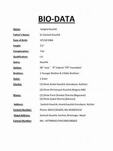 How To Create A Biodata 6 Bio Data Forms Word Templates