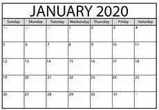 January 2020 Calendar Download January 2020 Calendar Usa With Bank Holidays 2019