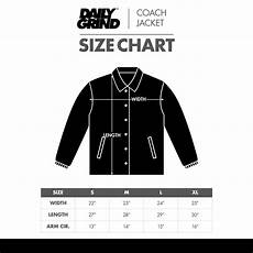 Coach Jacket Size Chart Dg Coach Jacket Size Chart Square Daily Grind Store