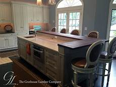 kitchen islands ontario custom walnut wood raised kitchen bar in ontario