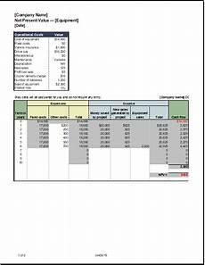 Net Present Value Calculator Net Present Value Calculator For Ms Excel Excel Templates
