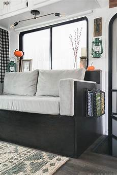 Rv Futon Sofa Bed 3d Image by Small Diy Sofa With Storage For Our Rv