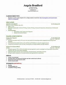 Resume Builder No Work Experience Resume For College Student With No Experience Task List