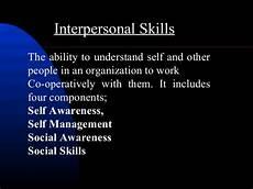 Strong Interpersonal Skills Definition Interpersonal Skills