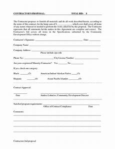 Proposal And Contract Template Proposal On Pinterest Proposals Templates Free And