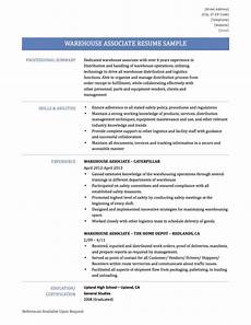 Warehouse Associate Resume Samples Warehouse Associate Resume Samples Templates Amp Tips By