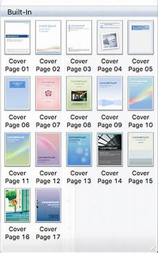 Title Page For Word How To Insert And Save Cover Page In Microsoft Word On Mac