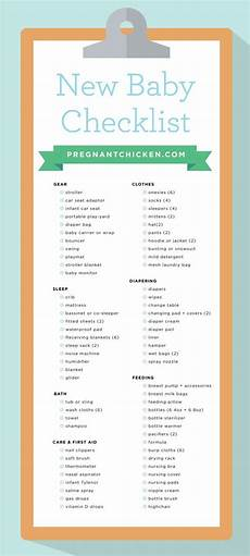 Baby Stuff Checklist New Baby Checklist What To Get When Expecting