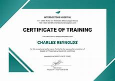 Certificate Of Training Template Free Free Hospital Training Certificate Training Certificate