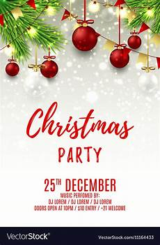 Free Christmas Templates For Flyers Christmas Party Flyer Template Royalty Free Vector Image