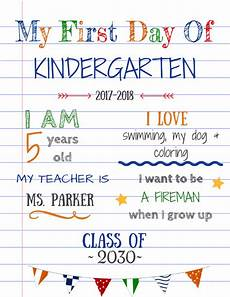 First Day Of Preschool Template How To Create Your Own Editable First Day Of School Signs
