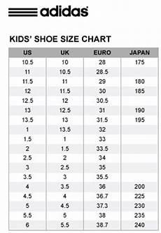 Adidas Tennis Shoes Size Chart Adidas Kids Shoe Size Chart Nanima Bizaar Online Shop