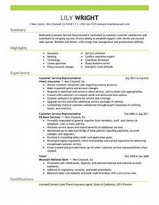 Sample Resumes For Customer Service Representative 15 Amazing Customer Service Resume Examples Livecareer