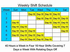 2 Weeks On 1 Week Off Roster Calendar 10 Hour Schedules For 7 Days A Week Standaloneinstaller Com