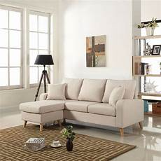 Small Space Sectional Sofa 3d Image by Modern Fabric Small Space Sectional Sofa W Reversible