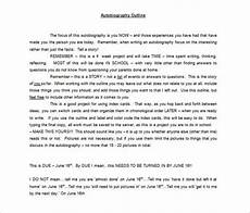 Auto Biography Outline How To Write An Autobiography Essay