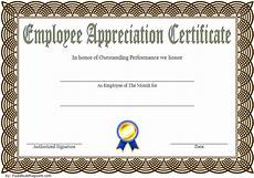 Employee Recognition Certificates Employee Appreciation Certificate Template 7 Great