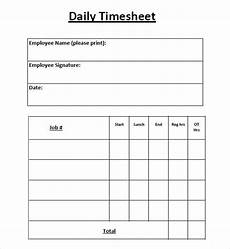 Daily Time Sheets Template Free 10 Sample Daily Timesheet Templates In Google Docs