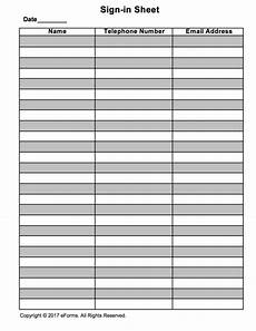 Signing Sheet Template Attendance Guest Sign In Sheet Template Eforms Free