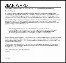 Cover Letter For Business Development Manager Business Development Manager Cover Letter Sample Cover