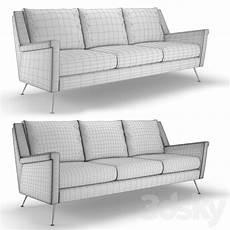 Mid Century Sectional Sofa 3d Image 3d models sofa sofa west elm carlo mid century
