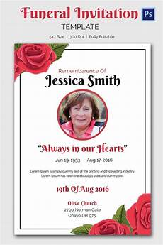 Sample Of Funeral Invitation Funeral Invitation Template 12 Free Psd Vector Eps Ai