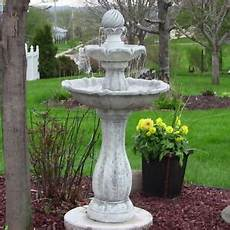 Solar Waterfall Lights Solar On Demand Outdoor 45 Quot White 2 Tier Water Fountain