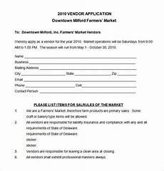 Vendor Registration Form Template Vendor Application Template 9 Free Word Pdf Documents