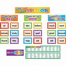 Sight Words Pocket Chart Second 100 Sight Words Pocket Chart Cards Tcr20846