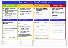 Asthma Action Plan Chart Paediatric Asthma Management Plan Templates At