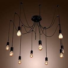 Costco Edison Light Fixture Edison Style 10 Lights Bulb Chandelier Ceiling Light