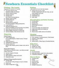 Baby Essential List New Baby Checklist 9 Free Pdf Documents Download Free