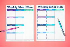 Menu Planner Template Printable Weekly Meal Planner Template Happiness Is Homemade