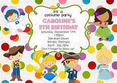 Costume Party Invites Costume Party Invitation Boy Or Girl Digital File