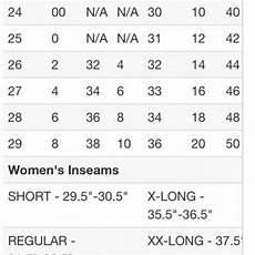 Women S Jean Size Conversion Chart Bke Jeans Size Chart Poshmark