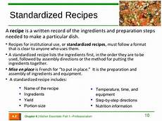 Standard Form Recipe Format Your Recipe To Standard Form By Nicholaswrites