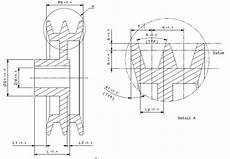 Pulley Dimension Chart Sheet Metal Tolerance Standards V Groove Pulley Material