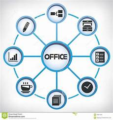 Office Network Office Network Diagram Stock Illustration Illustration Of