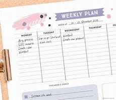 Cute Monthly Planners Get Organised With This Free Printable Weekly Planner
